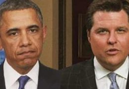 Matt Gaetz WIPES SMIRK OFF Obama's Face With Brutal Joke About Barack's Legacy